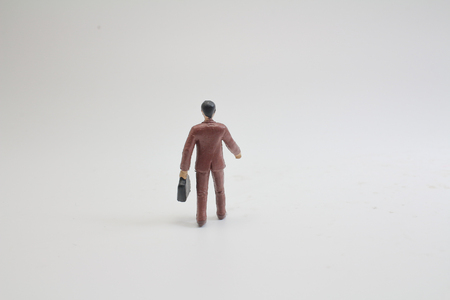 a tiny busines figure people on stage 版權商用圖片