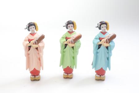 the tiny figure of Japanese Traditional  doll 版權商用圖片
