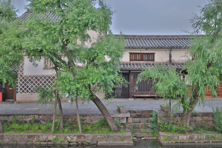 a Historic Bikan District in Kurashiki, Okayama Stock Photo