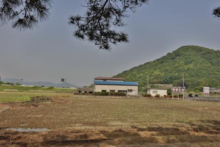 the japan country side at Kibitsuhiko, Okayama