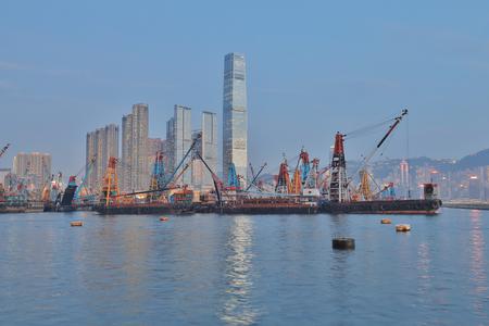 a coast of West Kowloon at Hong Kong