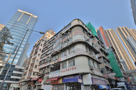 the Tong lau old house at Jordan hk Editorial