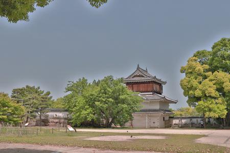 Okayama castle and canal in Okayama city. Editorial