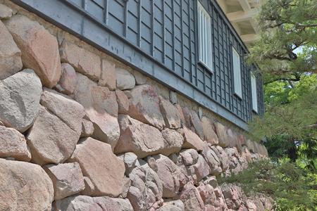 a foundation of an Okayama castle japan Editorial