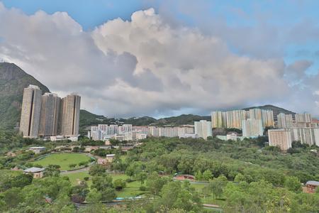 the Shun Lee district kwun tong at hong kong 写真素材