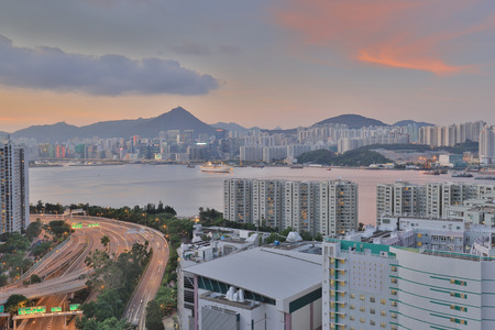 Residential building area at Sai Wan Ho Stock Photo