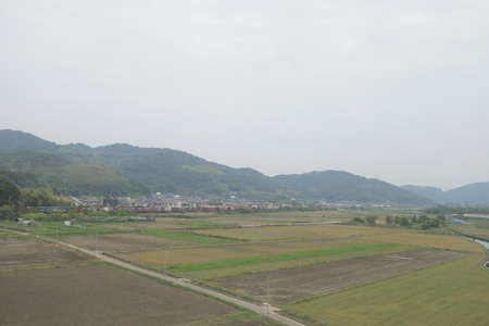 from window view out of Speed Train japan