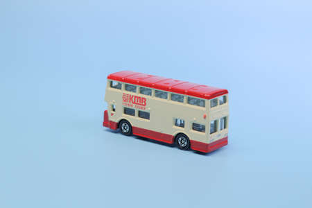 Close up  of one isolated bus classic bus 版權商用圖片