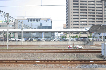 from window view out of Train at japan