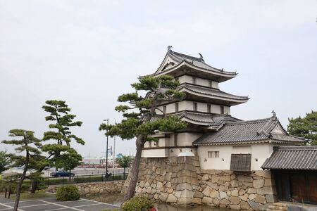 Hojisho of the Takamatsu castle in Takamatsu, Japan Zdjęcie Seryjne