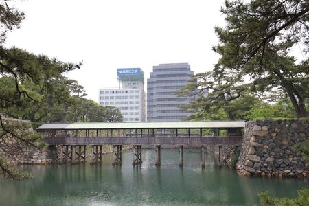 Sayabashi bridge of Takamatsu castle in Takamatsu