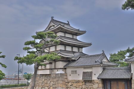 Scenery of the Takamatsu castle in Takamatsu, Japan