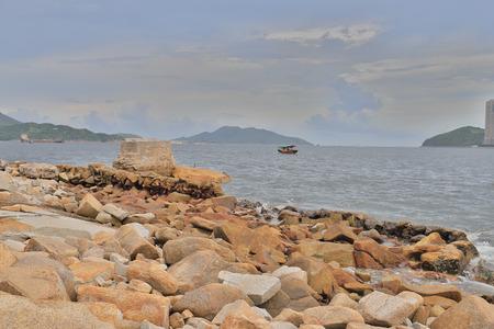 an old Lei Yue Mun Quarry at hk 版權商用圖片 - 105980838