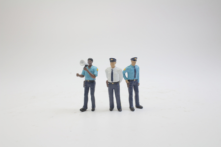 The scale police model with a figure