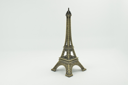 A Scale model of the Eiffel tower in Paris 版權商用圖片