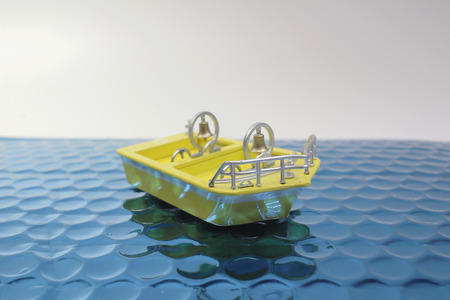 The fun of figure  theme park boat Imagens