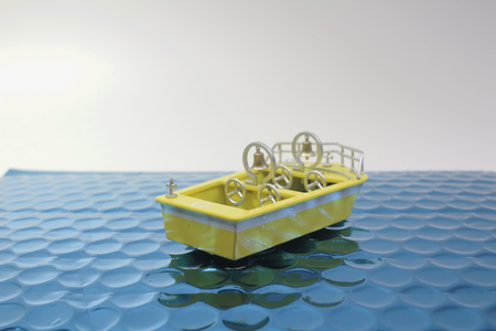 The fun of figure  theme park boat 写真素材