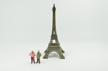 the figure with the scale Tower with Paris