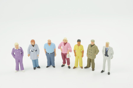 a group of the small people figure 版權商用圖片