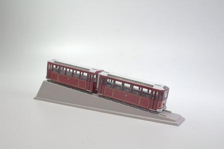 the scale of model peak tram at hong kong