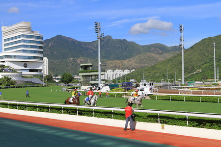 Racecourse in Hong Kong sha tin Fo Ta