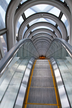 The Escalator Of The Floating Garden Observatory Stock Photo