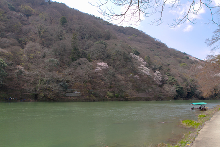 an Arashiyama and Hozu river at Kyoto, Japan.