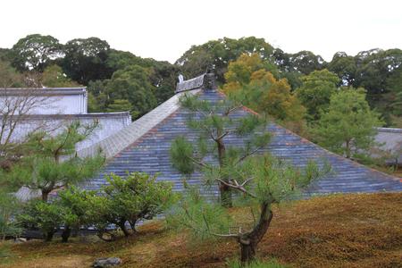 a zen garden at the Golden Pavilion 版權商用圖片