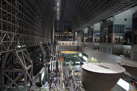 Kyoto Station is a railway station and transportation Editorial