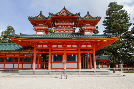a Heian Shrine panoramic view, Kyoto  Japan.