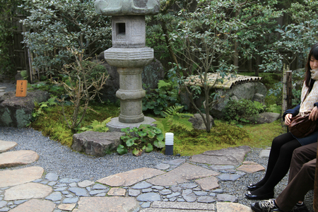 an zen garden Japanese traditional garden