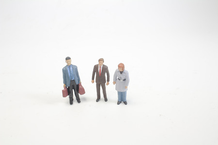 a group of the small people figure 写真素材