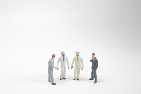a group of the small people figure Stock Photo