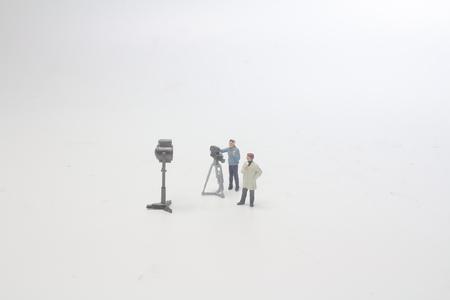 a mini of figure theme broad cast
