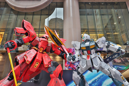 an Image of a giant GUNDAM statue at hk 新聞圖片