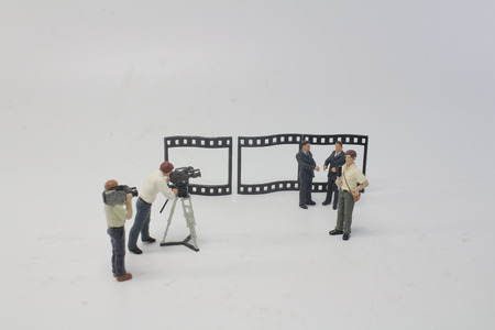 the movie marker of toy figure at studio