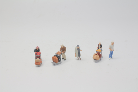 the  mini figure with trolley with travel