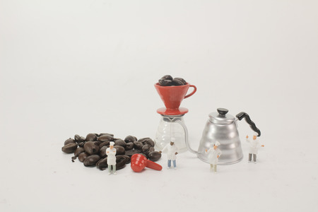 a Coffee beans business expert professional concept