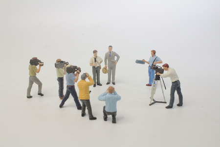 the group of movie marker of toy figure Stock Photo