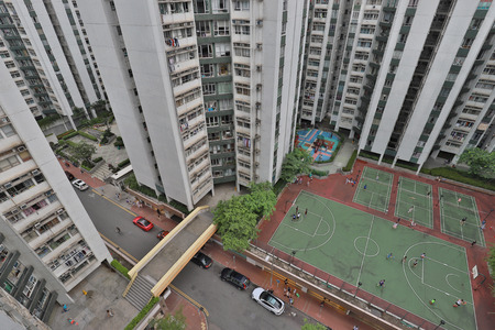 a middle class of Hong Kong building