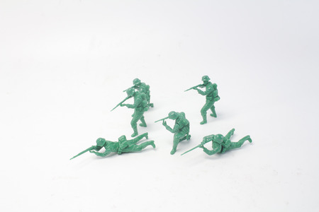 the fun of mini figure soldier at display Stock fotó