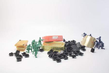 a fun of mini figure soldier at display Stock Photo