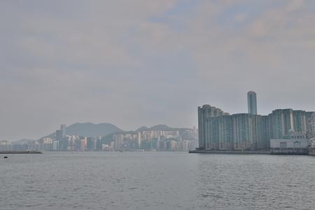 Hung Hom bay and kowloon bay Stock Photo