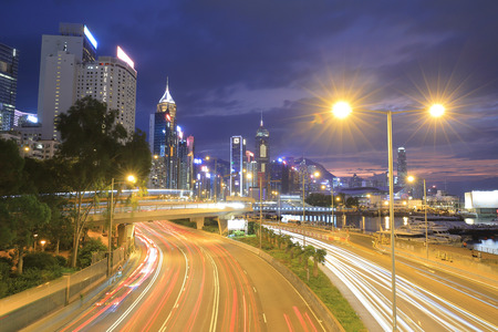 the Gloucester Road, part of causeway bay night
