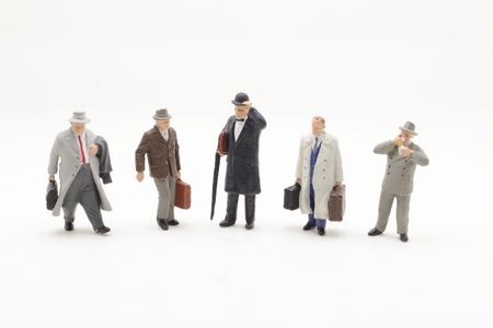 a small figures of  business men stand Banque d'images - 109816962