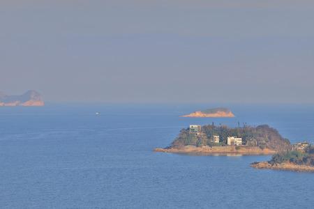 the coast in Ngam Tau Sha sai kung Stock Photo