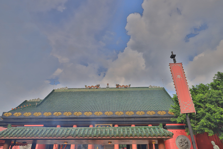 a roof of the Che Kung taoist temple shatin
