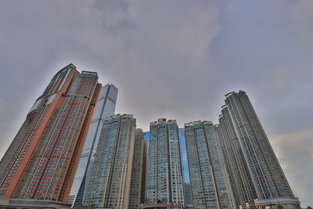 the Middle class apartments at west kowloon Stock Photo