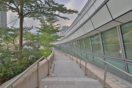 the walkway of Roof garden at railway station