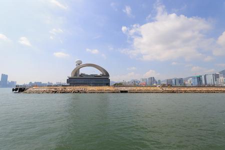 the kai tak cruise with HK Victoria Harbour